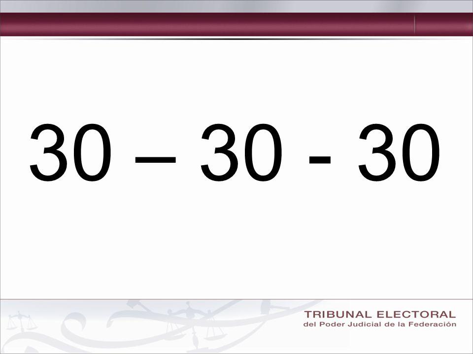 30 – 30 - 30