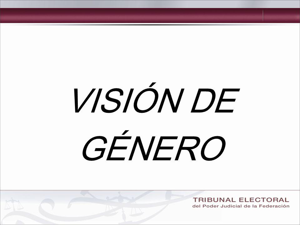 VISIÓN DE GÉNERO