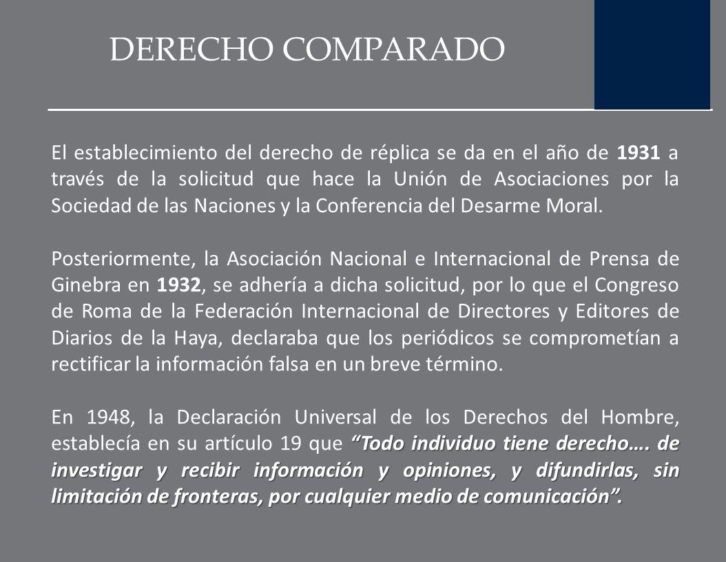 DERECHO COMPARADO En dicho informe la comisión señaló varias funciones que los medios debían realizar, entre las que destacan: Realizar un relato real