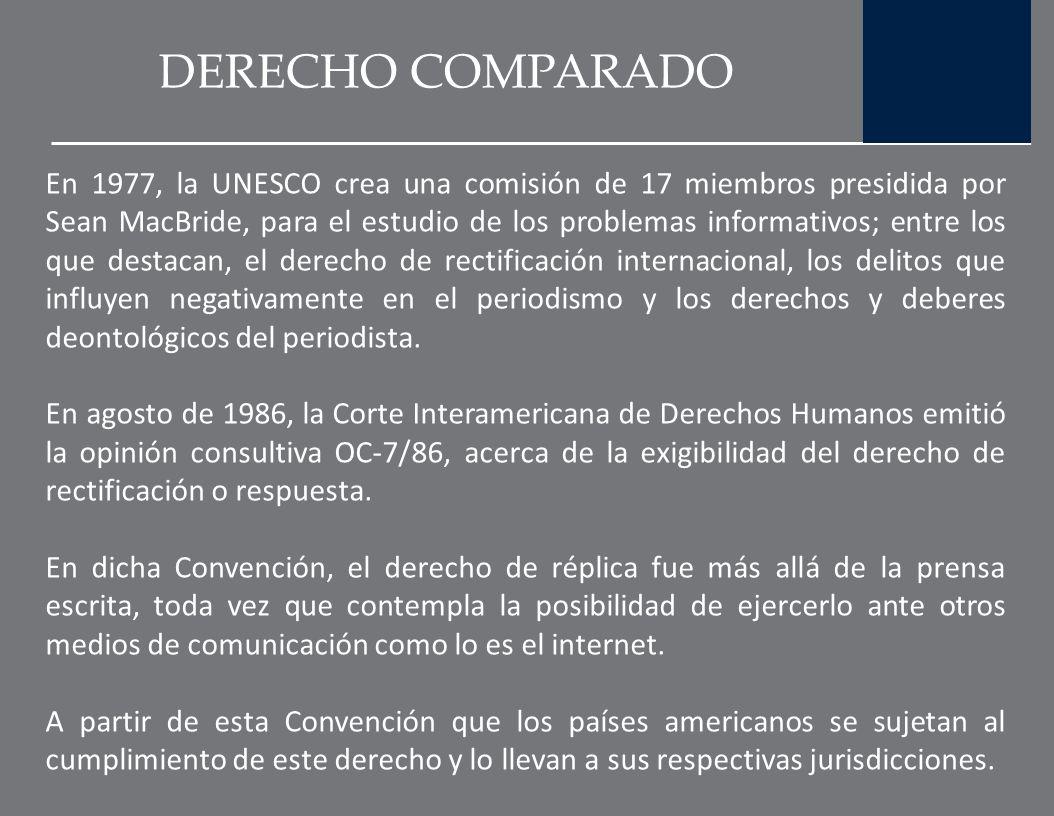 DERECHO COMPARADO En 1949 la Asamblea General de las Naciones Unidas incorporó en el proyecto de la convención, un texto que se refería a la transmisi