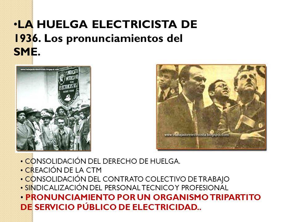 FINALMENTE SE DA LA CREACIÓN DE LA CFE EL 14 DE AGOSTO DE 1937, POR EL GRAL.