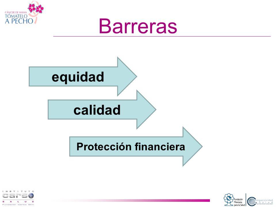 Barreras equidad calidad Protección financiera