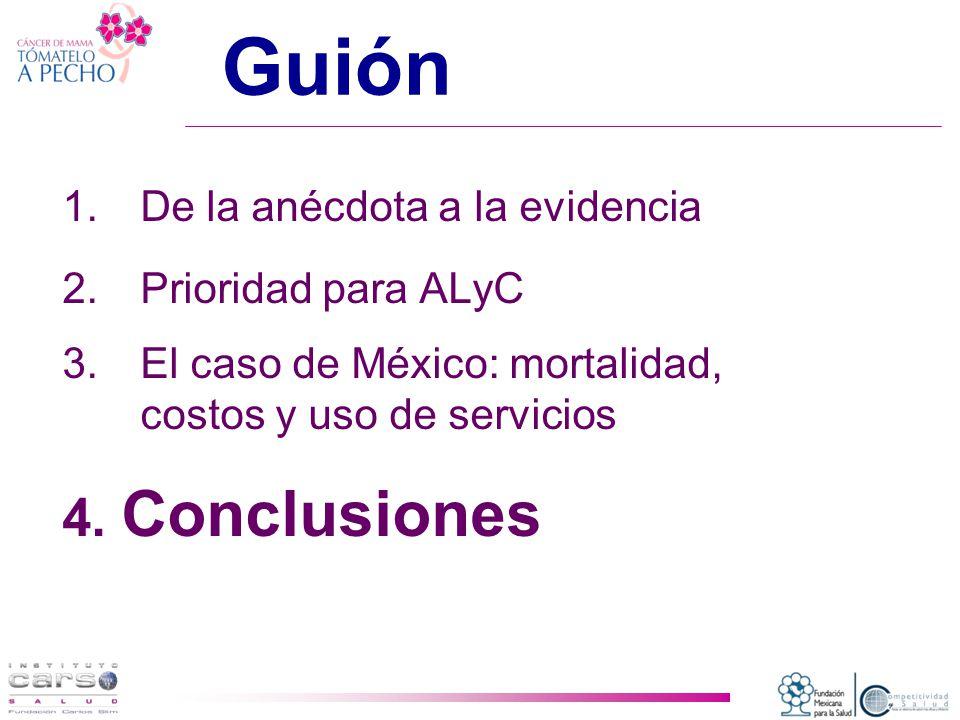 Guión 1.De la anécdota a la evidencia 2.Prioridad para ALyC 3.