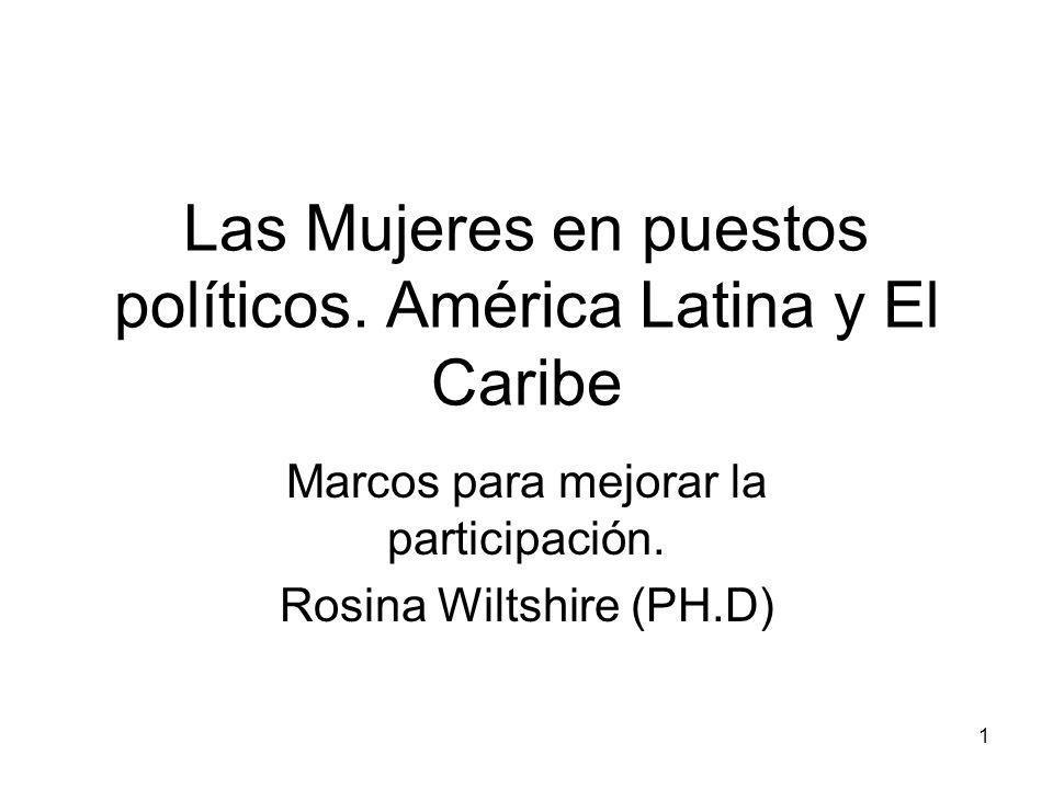 1 Las Mujeres en puestos políticos.