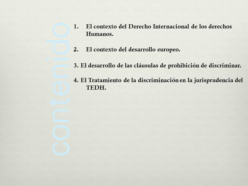 2.- El Protocolo número 12, de 4 de noviembre de 2000. 3.- Carta Social Europea.
