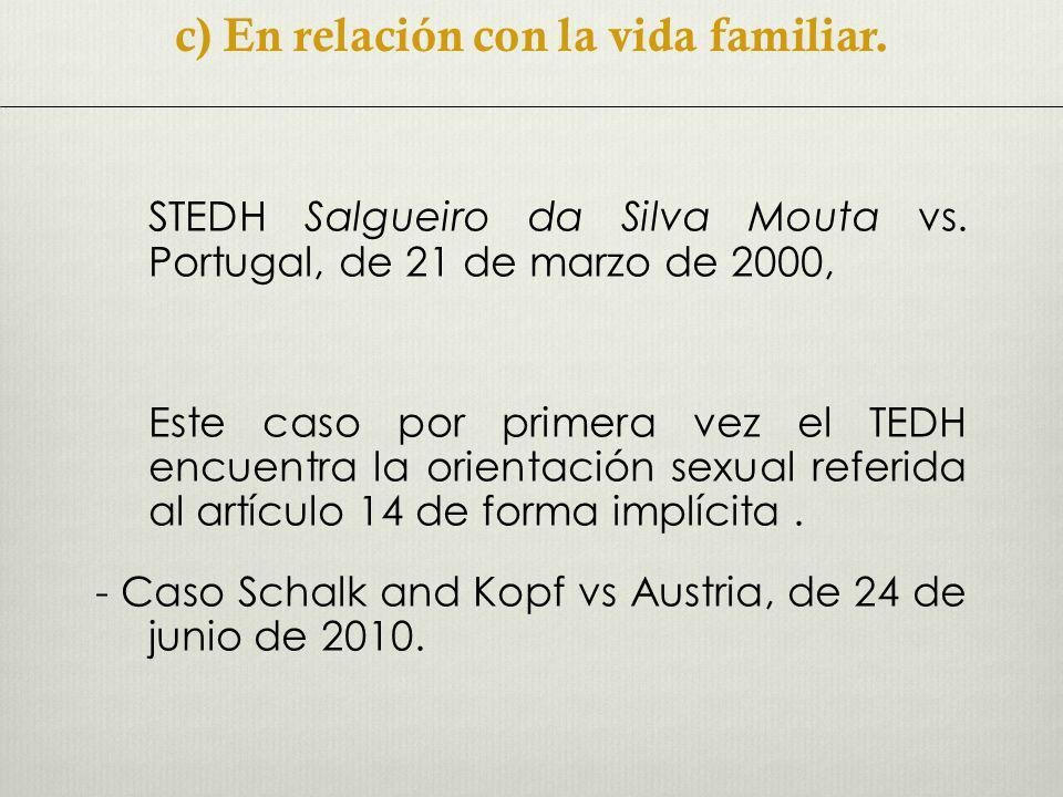 STEDH Salgueiro da Silva Mouta vs.