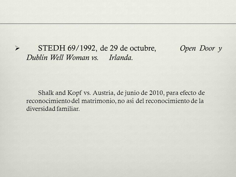 STEDH 69/1992, de 29 de octubre, Open Door y Dublín Well Woman vs.