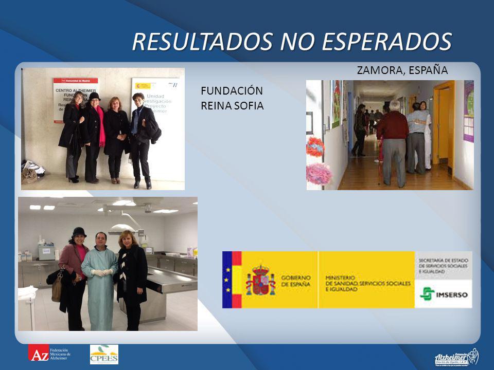 RESULTADOS NO ESPERADOS ZAMORA, ESPAÑA FUNDACIÓN REINA SOFIA