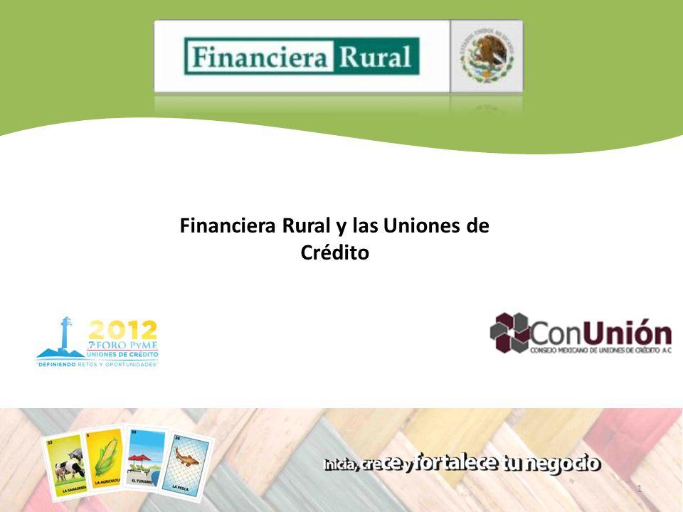 1 Financiera Rural y las Uniones de Crédito