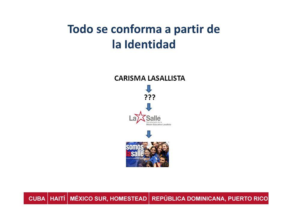 Todo se conforma a partir de la Identidad CARISMA LASALLISTA ???