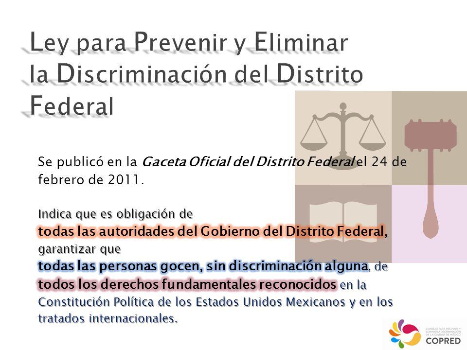 impulsar, promover, gestionar y garantizar la eliminación de obstáculos que limiten a las personas el ejercicio del Derecho Humano a la igualdad y a la no discriminación pleno desarrollo e impidan su pleno desarrollo.