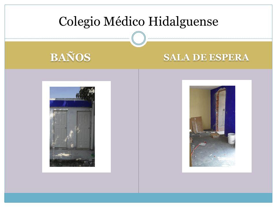 BAÑOS SALA DE ESPERA Colegio Médico Hidalguense