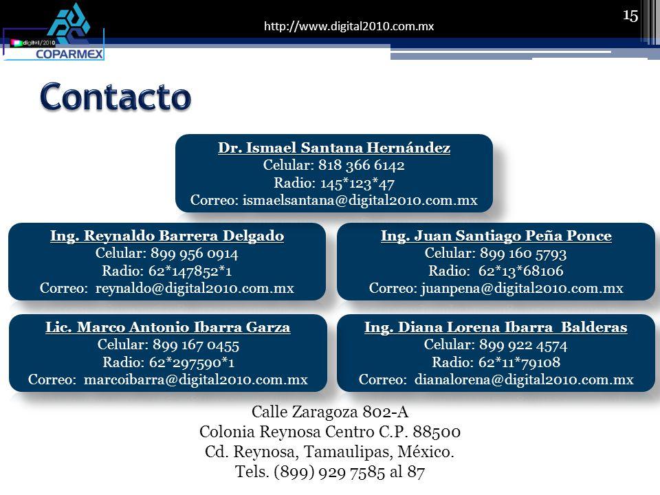 http://www.digital2010.com.mx 15 Calle Zaragoza 802-A Colonia Reynosa Centro C.P.
