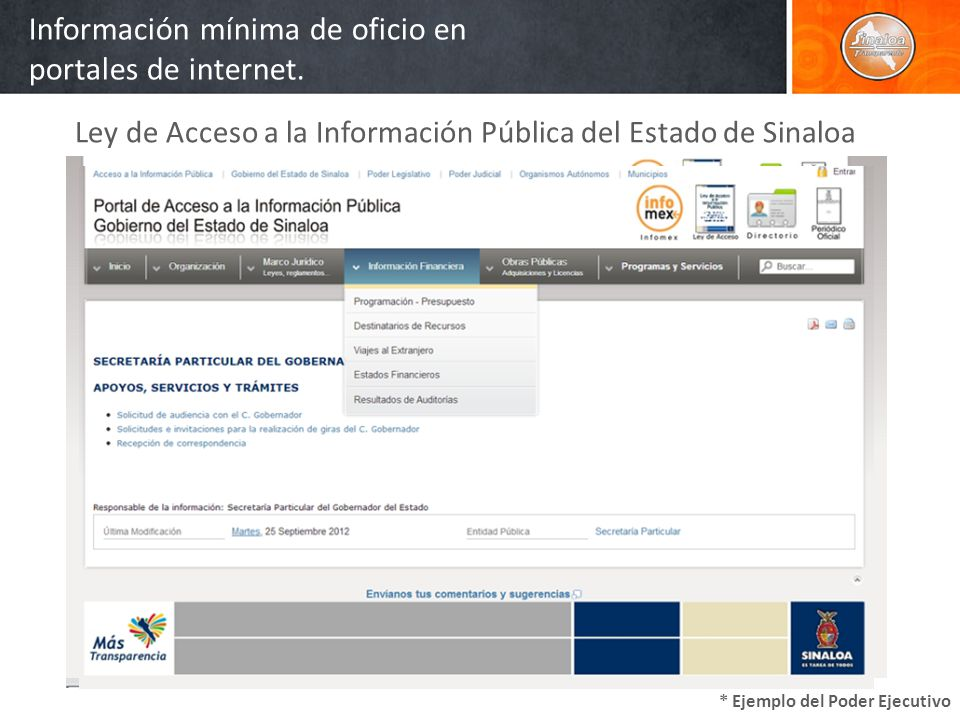 Formas de solicitar información 1 VíaPersonal 2VíaInternet 3 Vía Telefónica