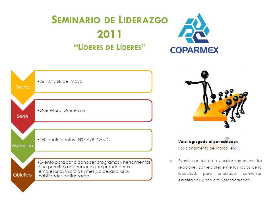 Fecha 26, 27 y 28 de mayo.Sede Querétaro, Querétaro Asistencia 150 participantes.