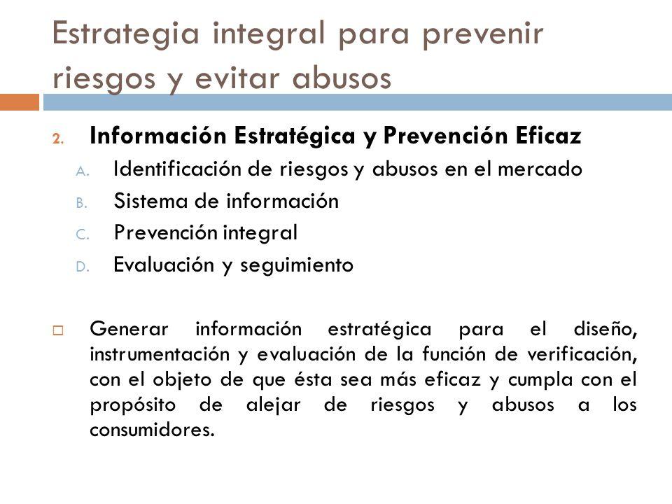 Estrategia integral para prevenir riesgos y evitar abusos 2. Información Estratégica y Prevención Eficaz A. Identificación de riesgos y abusos en el m