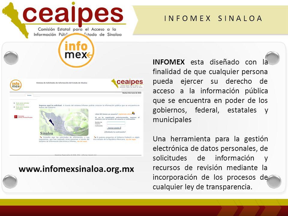 Sistema Infomex en los estados