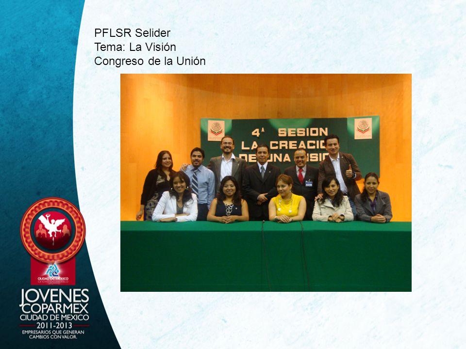 PFLSR Selider Tema: La Visión Congreso de la Unión