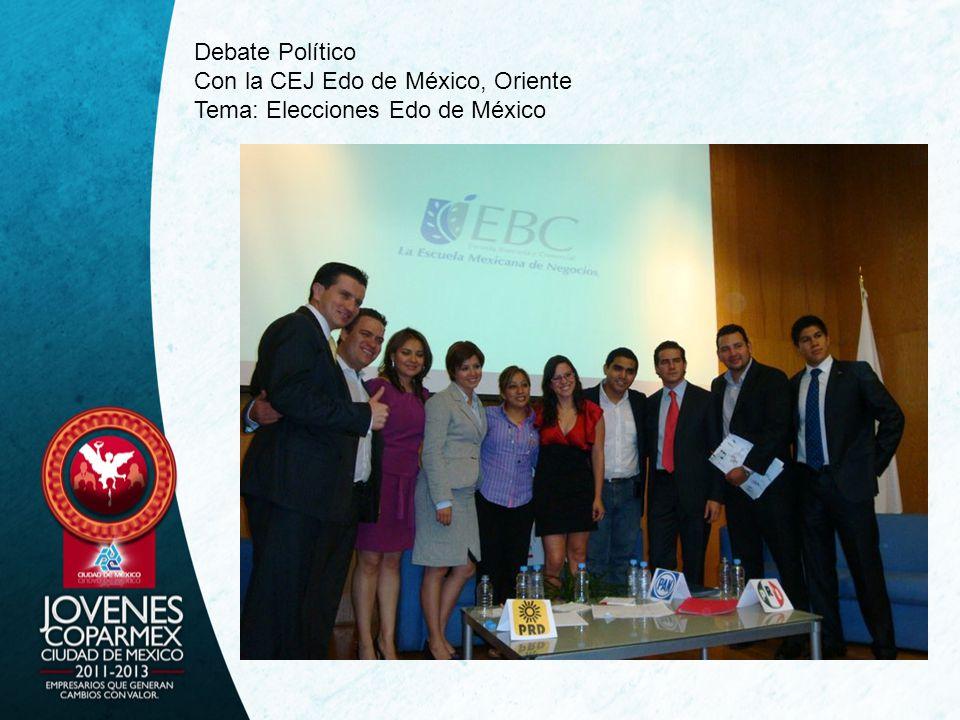 Debate Político Con la CEJ Edo de México, Oriente Tema: Elecciones Edo de México