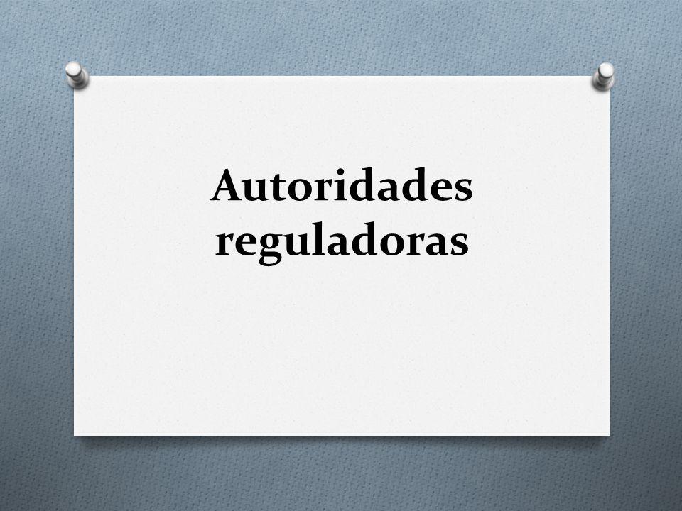 Autoridades reguladoras