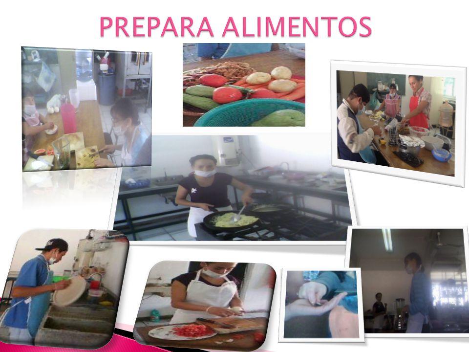 PROPÓSITOACTIVDADESMATERIALESOBSERVACIONES Que los alumnos practique en la elaboración de alimentos tanto para su propio consumo como para los comensa
