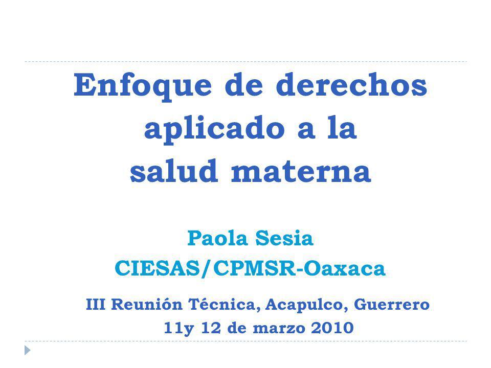 MM y DH Enfoque novedoso: problemática de salud pública problemática de desarrollo social problemática de equidad de género problemática de derechos humanos