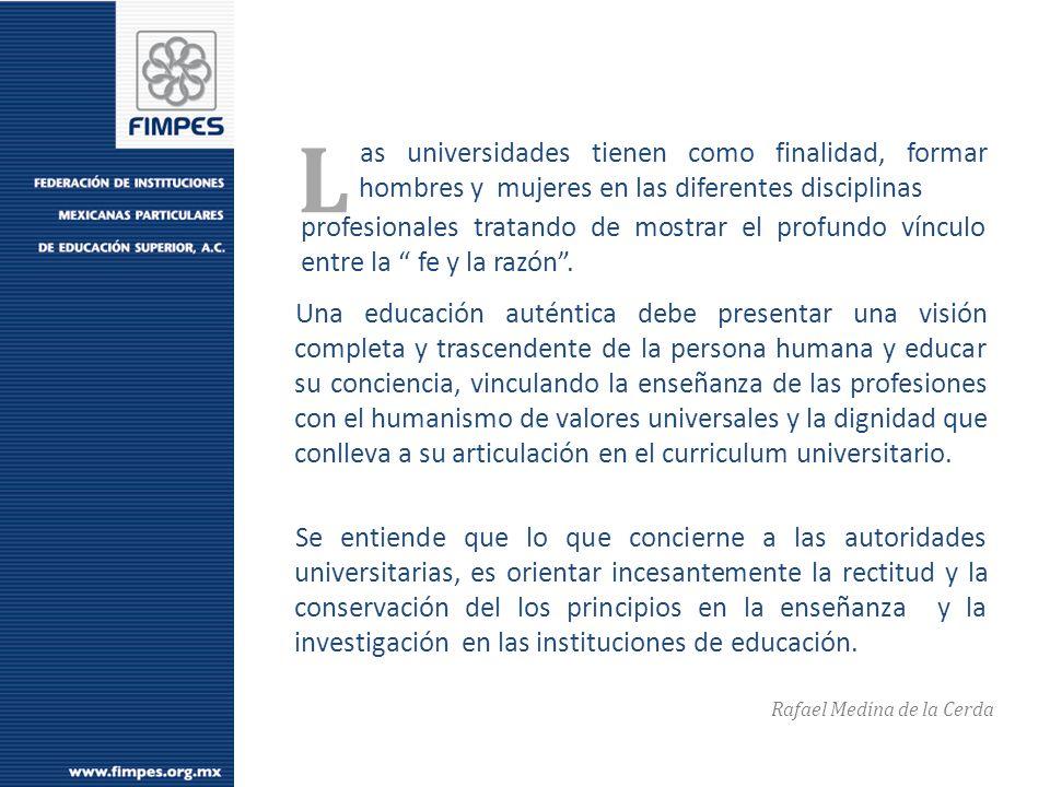 FEDERACIÓN DE INSTITUCIONES MEXICANAS PARTICULARES DE EDUCACIÓN SUPERIOR A.C.