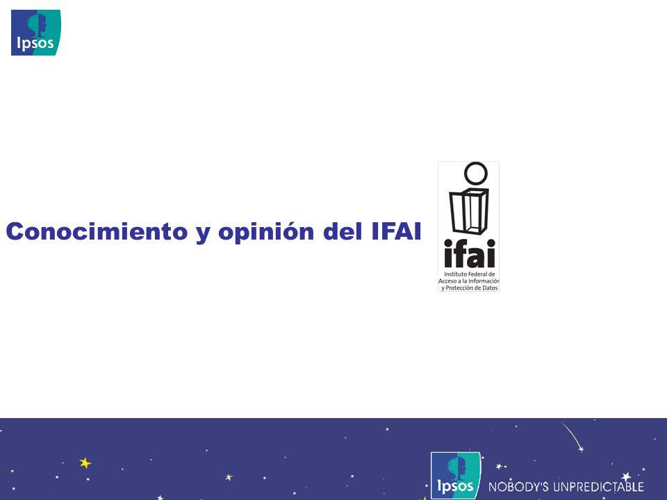 Nobodys Unpredictable 76 Conocimiento y opinión del IFAI
