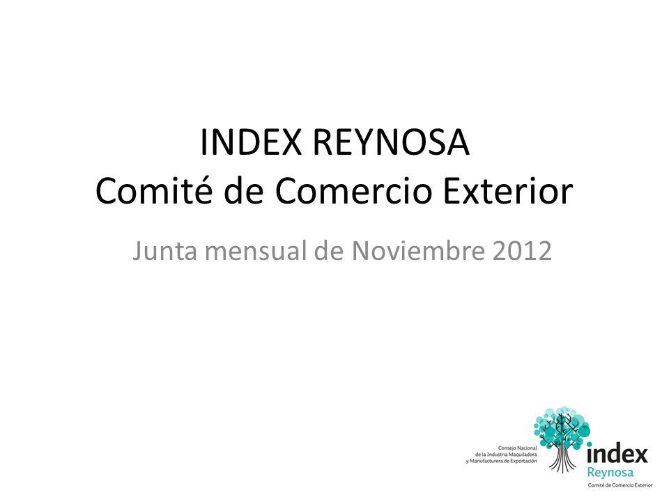 INDEX REYNOSA Comité de Comercio Exterior Junta mensual de Noviembre 2012