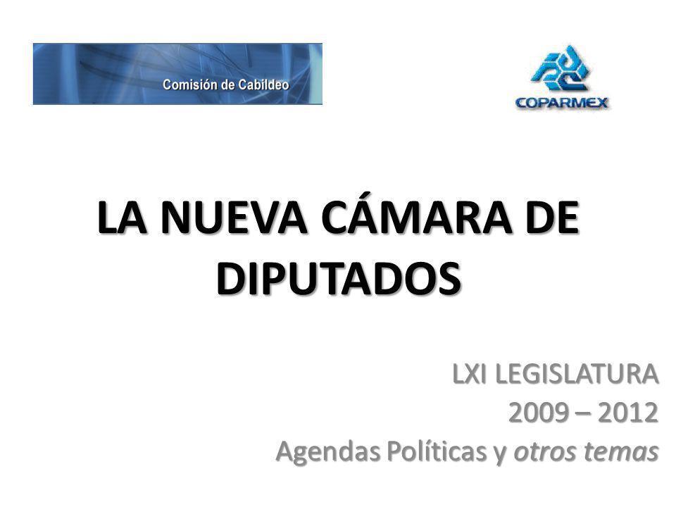 LA NUEVA CÁMARA DE DIPUTADOS LXI LEGISLATURA 2009 – 2012 Agendas Políticas y otros temas