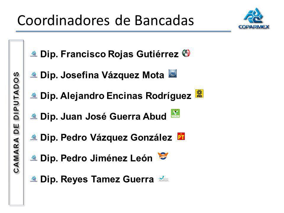 Coordinadores de Bancadas Dip. Francisco Rojas Gutiérrez Dip.