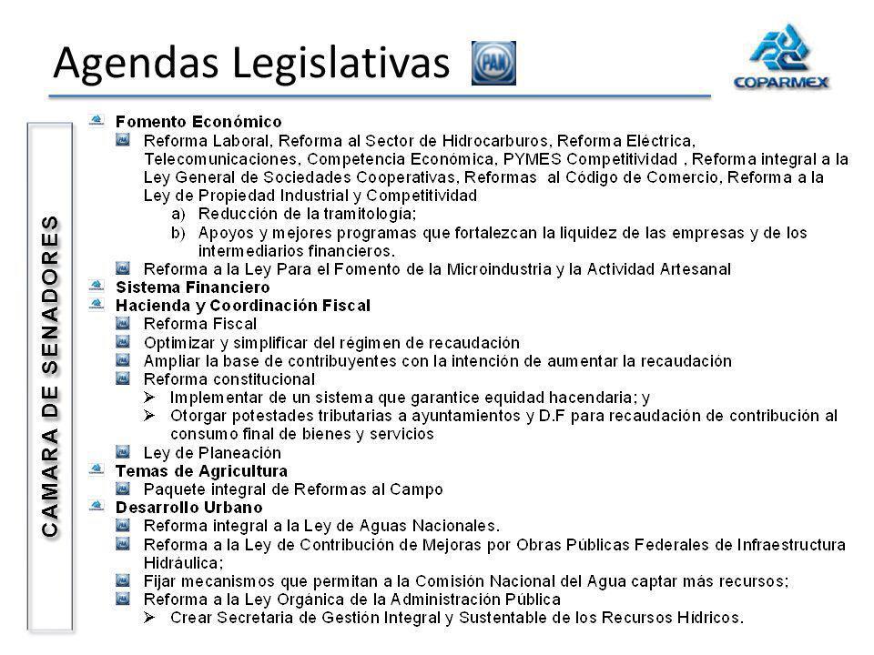 Agendas Legislativas CAMARA DE SENADORES