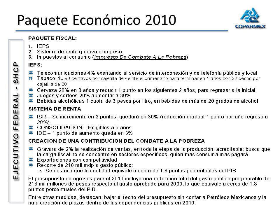 Paquete Económico 2010 EJECUTIVO FEDERAL - SHCP