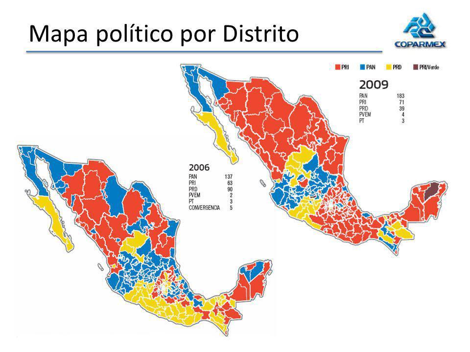 Mapa político por Distrito