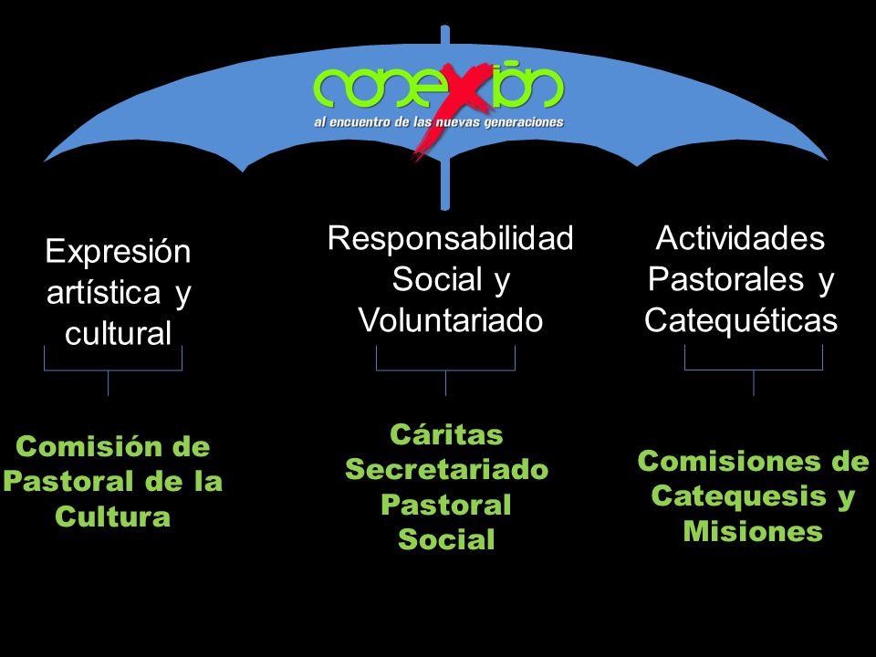 Expresión artística y cultural Responsabilidad Social y Voluntariado Actividades Pastorales y Catequéticas Comisión de Pastoral de la Cultura Comision