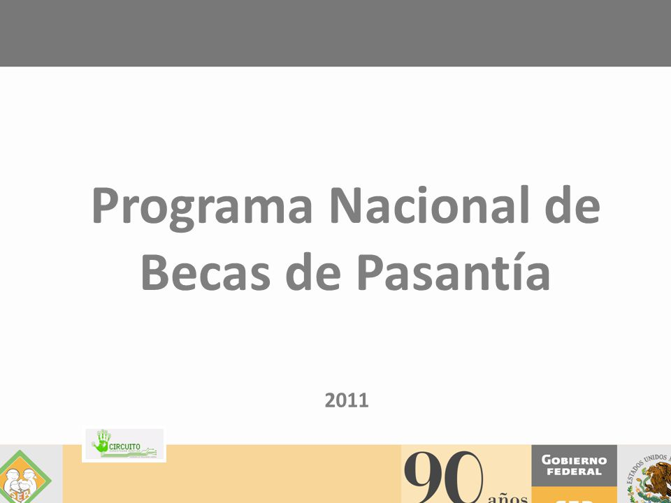 Programa Nacional de Becas de Pasantía 2011