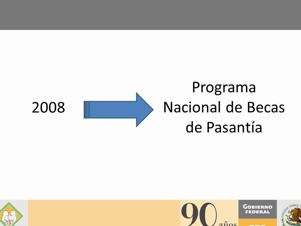 2008 Programa Nacional de Becas de Pasantía