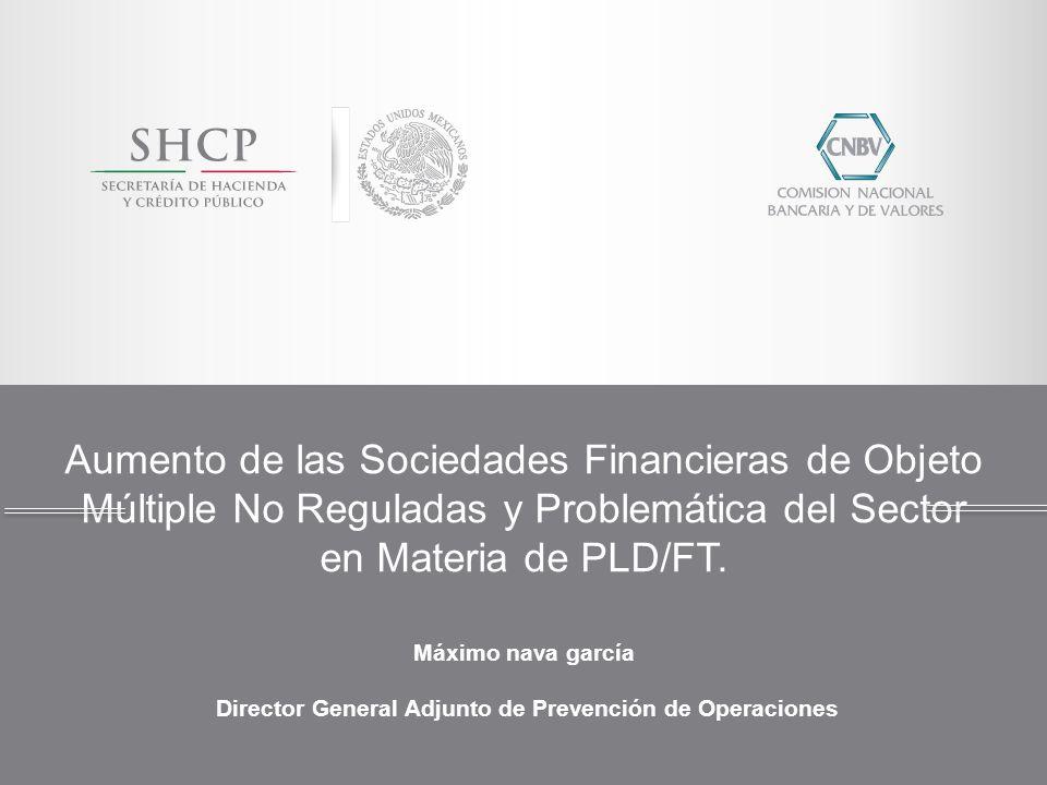 Aumento de las Sociedades Financieras de Objeto Múltiple No Reguladas y Problemática del Sector en Materia de PLD/FT. Máximo nava garcía Director Gene