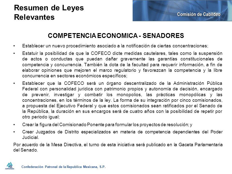 Confederación Patronal de la Republica Mexicana, S.P.