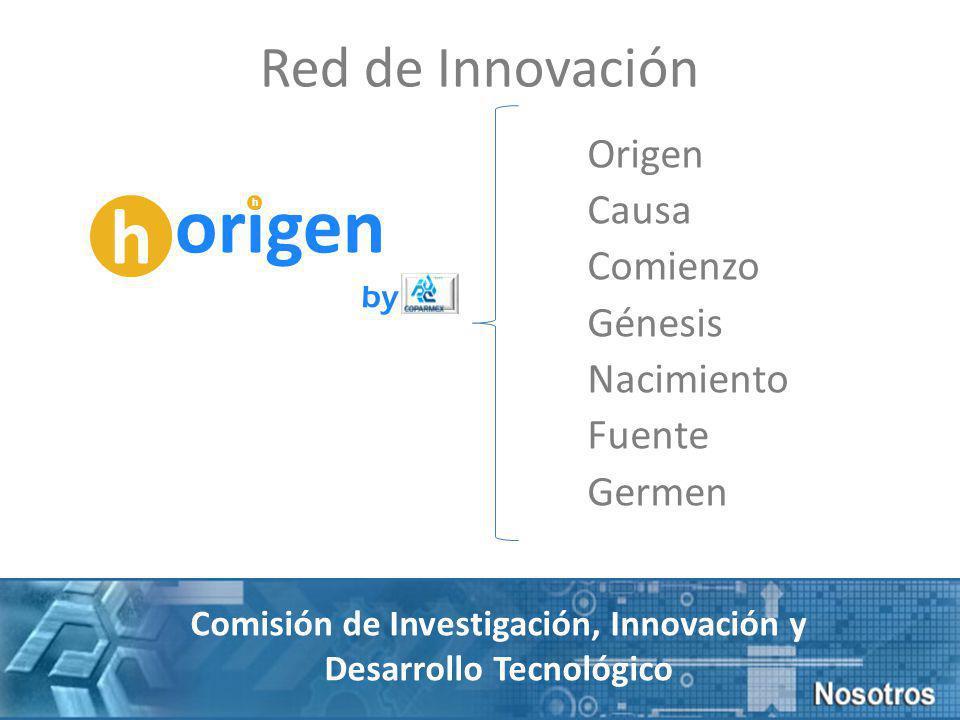 Origen Causa Comienzo Génesis Nacimiento Fuente Germen h origen h by Comisión de Investigación, Innovación y Desarrollo Tecnológico Red de Innovación