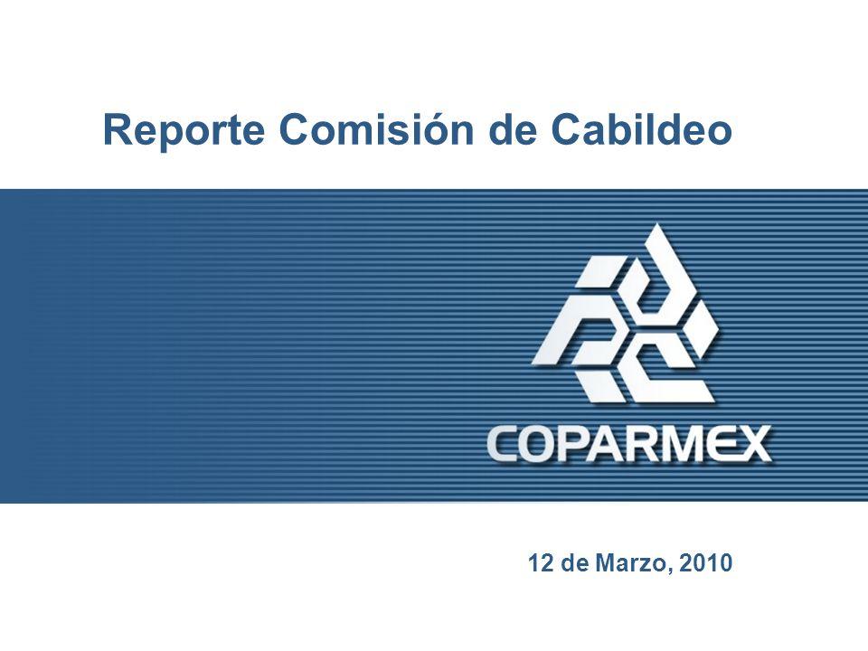 Reporte Comisión de Cabildeo 12 de Marzo, 2010