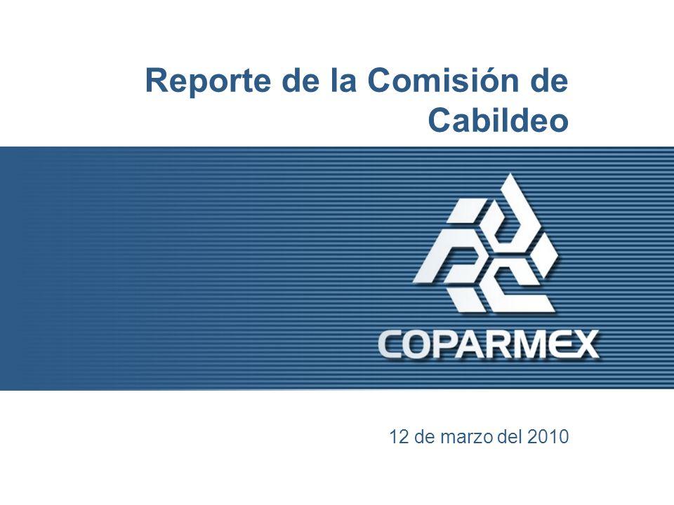 Reporte de la Comisión de Cabildeo 12 de marzo del 2010
