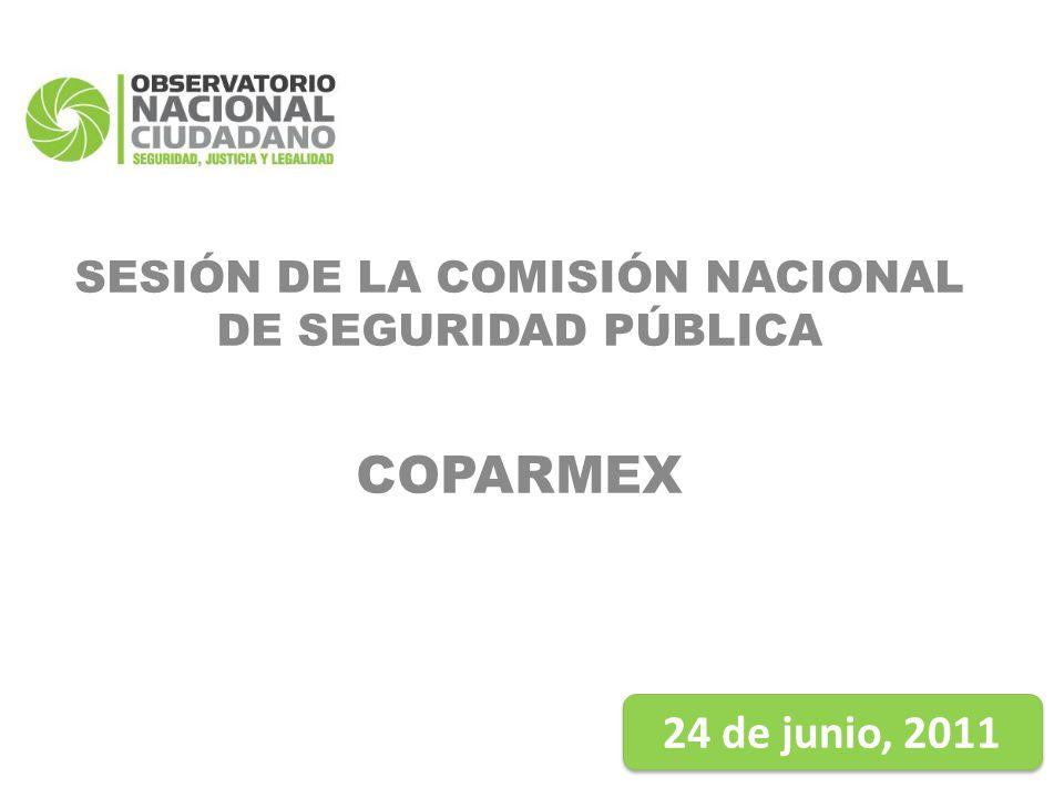 SESIÓN DE LA COMISIÓN NACIONAL DE SEGURIDAD PÚBLICA COPARMEX 24 de junio, 2011