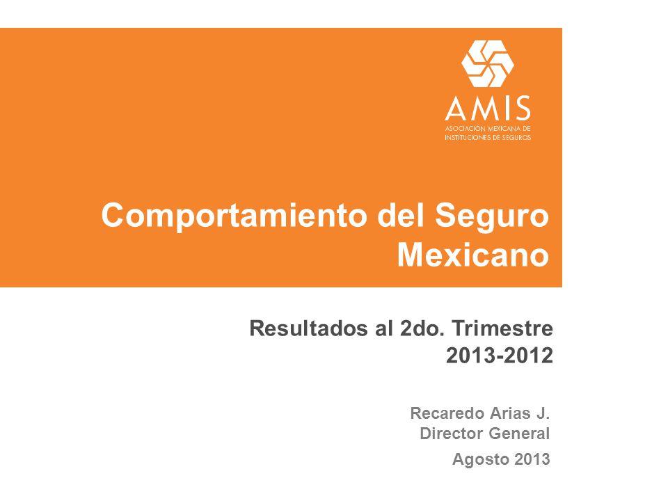 Comportamiento del Seguro Mexicano Recaredo Arias J. Director General Agosto 2013 Resultados al 2do. Trimestre 2013-2012