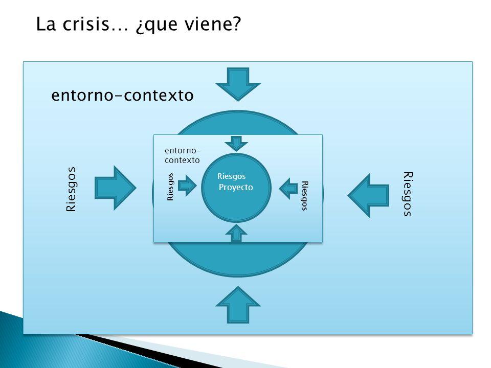 Proyecto entorno-contexto Riesgos La crisis… ¿que viene? Proyecto entorno- contexto Riesgos