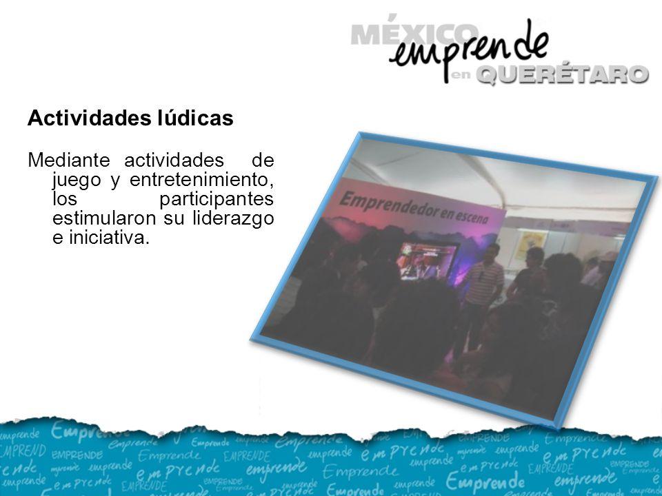 Actividades lúdicas Mediante actividades de juego y entretenimiento, los participantes estimularon su liderazgo e iniciativa.