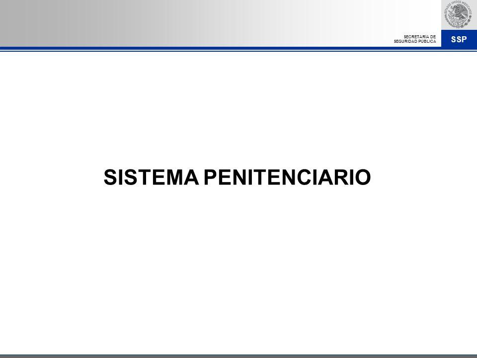 SSP SECRETARÍA DE SEGURIDAD PÚBLICA SISTEMA PENITENCIARIO
