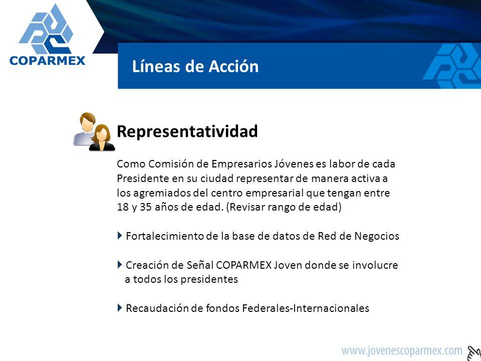 Representatividad Como Comisión de Empresarios Jóvenes es labor de cada Presidente en su ciudad representar de manera activa a los agremiados del cent