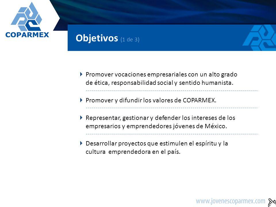 Objetivos (2 de 3) Fomentar el intercambio de experiencias entre los empresarios experimentados y los empresarios jóvenes.