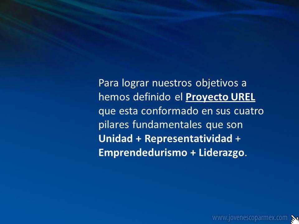 El proyecto UREL este esta conformado por una serie de proyectos con los que se estará trabajando en este periodo, que son los siguientes: Premio Nacional al Empresario Joven COPARMEX Congreso Nacional de Empresarios Jóvenes de COPARMEX Encuesta Nacional de Empresarios Jóvenes en México Señal Joven COPARMEX (Difusión de principios y valores COPARMEX) Formar parte de todo organismo de Gobierno de la Confederación (Consejo Ejecutivo Nacional) Formación y creación de Capítulos Universitarios COPARMEX (Mesas Directivas) Seminario de Liderazgo y Alta Dirección (Miembros Comisión) Red de Negocios a través de Encuentros de citas de negocios entre oferentes y demandantes.